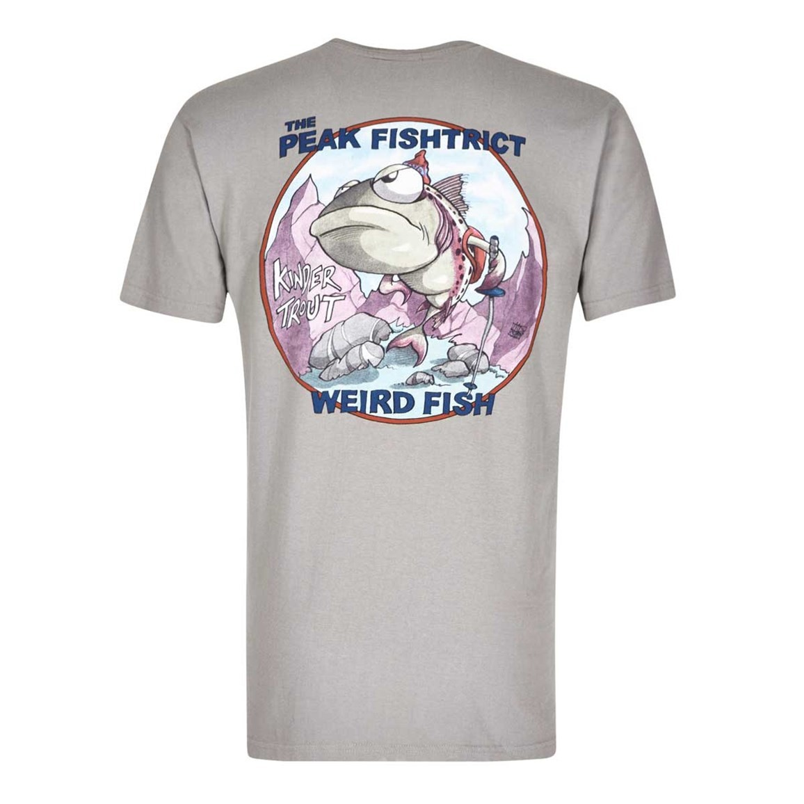 Peak Fishtrict Printed Artist T-Shirt Frost Grey