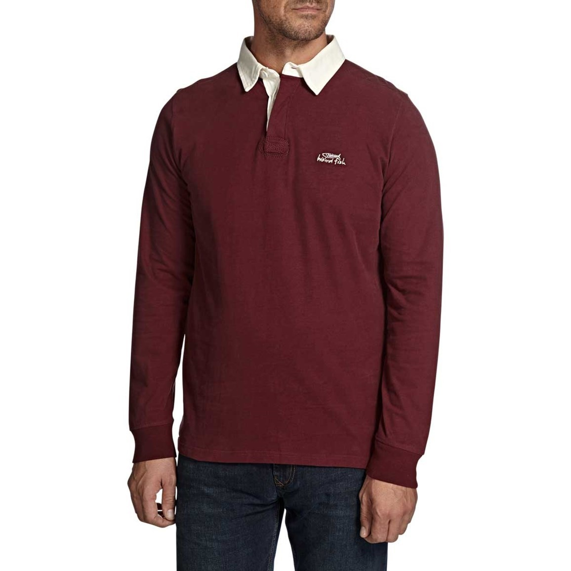 Lynton Cotton Sueded Rugby Style Sweatshirt Conker