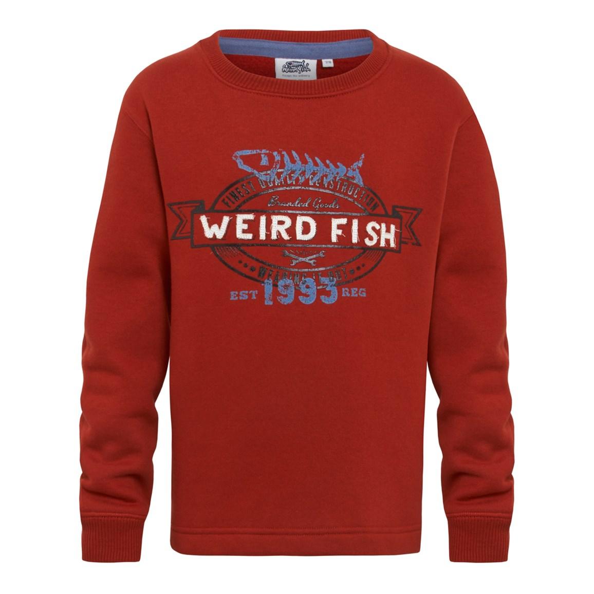 Declaration Crew Neck Sweatshirt Chilli Red