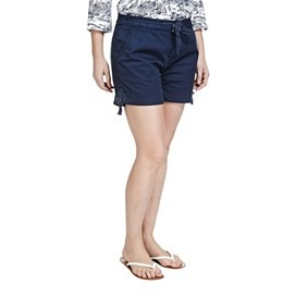 Cameron Plain Turn Up Shorts Navy
