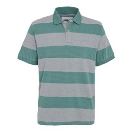 Ribble Striped Polo Shirt Sea Green